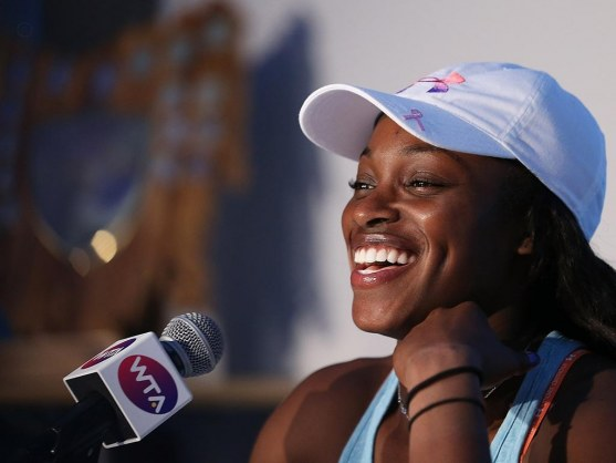 Sloane Stephens Smile Wallpaper Wallpaper