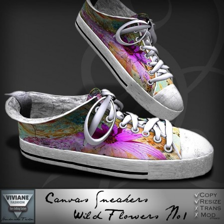 Canvas Sneakers Wild Flowers