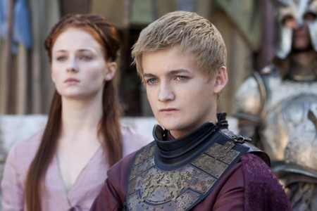 Picture Of Jack Gleeson And Sophie Turner In Game Of Thrones Large Picture