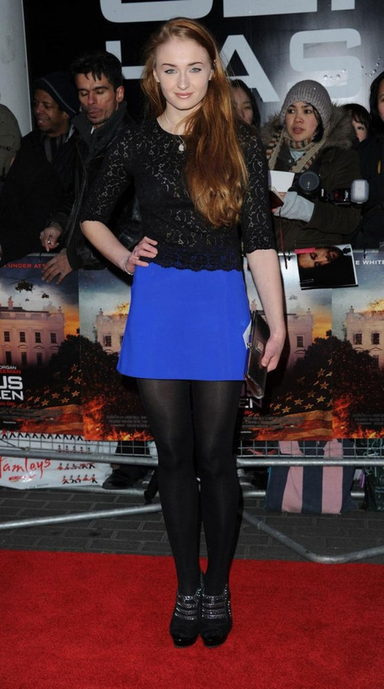 Sophie Turner At Olympus Has Fallen Premiere In London Premiere