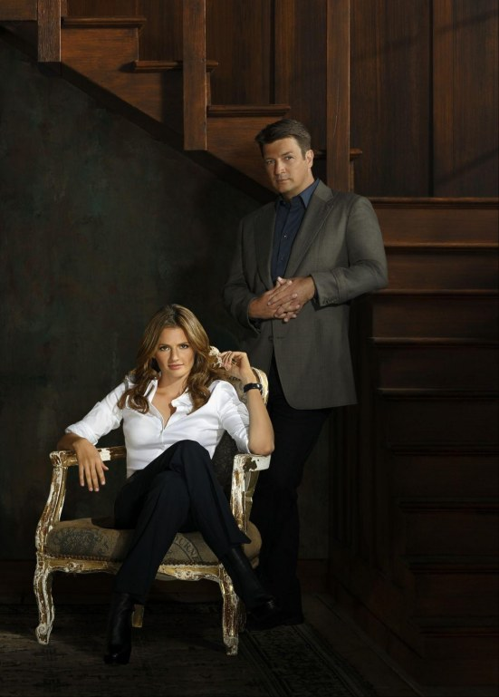Stana Katic At Castle Season Promo Castle Season