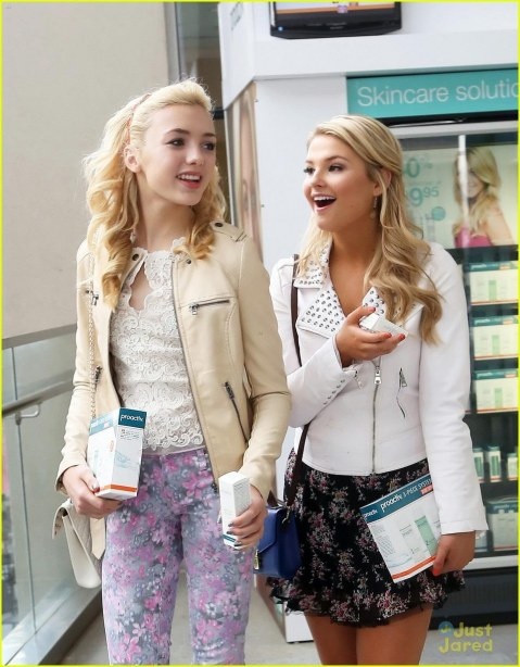 Peyton List Stefanie Scott Proactiv And Peyton List