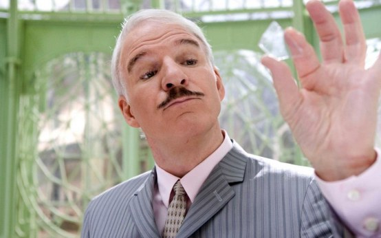 Steve Martin Gray Haired Emotions Hands Mustache Study Wallpaper