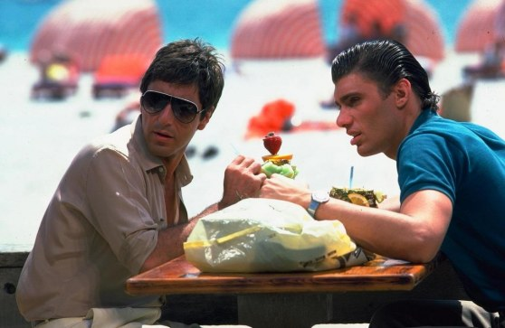 Picture Of Al Pacino And Steven Bauer In Scarface Large Picture