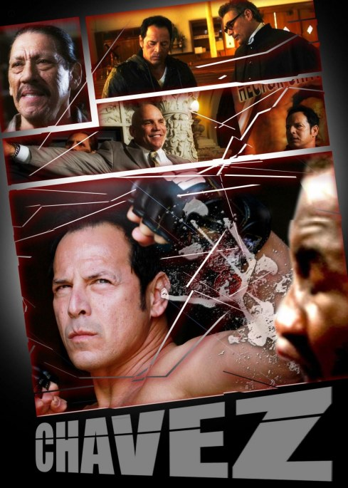 Steven Bauer Danny Trejo And Hector Echavarria In Chavez Cage Of Glory Large Picture Movies