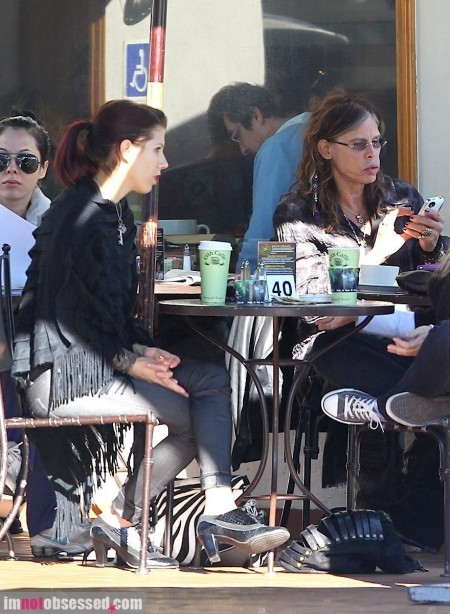 Steven Tyler And Fiance Grab Breakfast