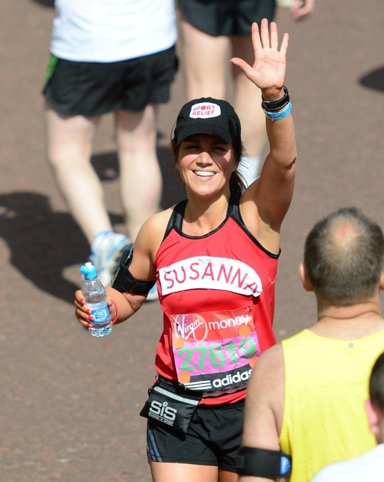 Susanna Reid Running In The London Marathon Nd April Running