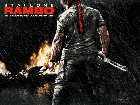 Sylvester Stallone In Rambo Wallpaper