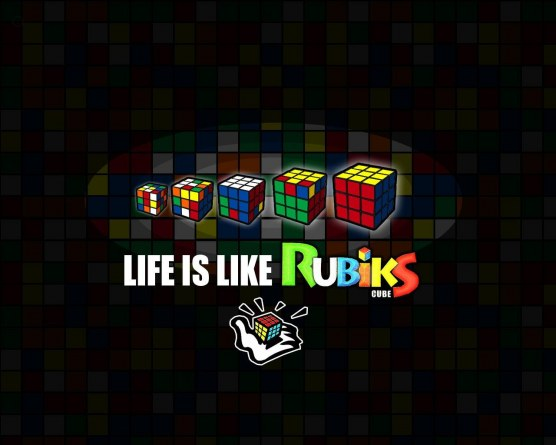 Life Is Like Rubik Cube By Tetrismaster Background
