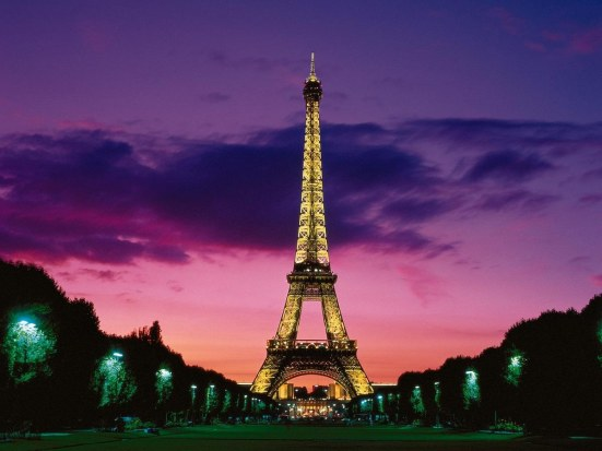 Eiffel Tower At Night Paris France Normal