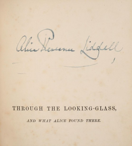 Looking Glass First Edition The Dedication Copy Presented To The Original Alice By Lewis Carroll And Signed By Her Hot