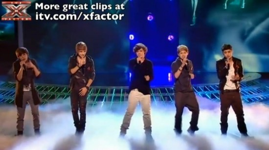 One Direction Sing Total Eclipse Of The Heart The Factor Live Show One Direction