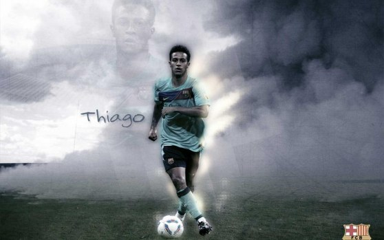 Thiago Alcantara Away Jersey Fc Barcelona Wallpaper