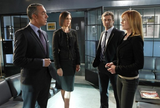 Picture Of Annabeth Gish Marg Helgenberger Grant Show And Titus Welliver In Csi Crime Scene Investigation Large Picture Grant Show