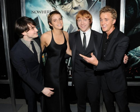 Daniel Radcliffe Tom Felton Harry Potter Deathly Zbnhy Fxoulx And Emma Watson