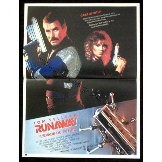 Runaway French Movie Poster Tom Selleck Sci Fi Movies