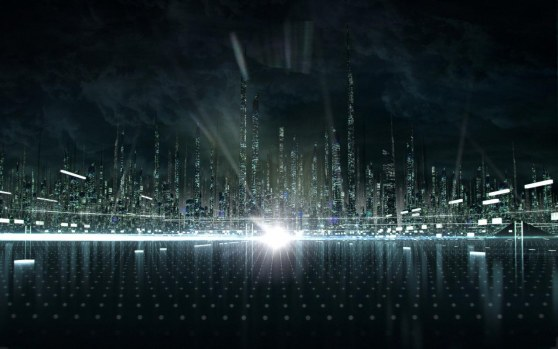 Tron Legacy City Concept By Shelest Movie