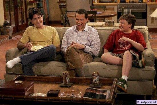 Two And Half Men Wallpaper Funny