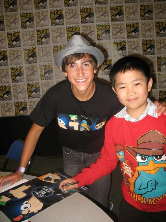 Phineas Ferb Press Interview Perry Chen With Vincent Martella Poster Best
