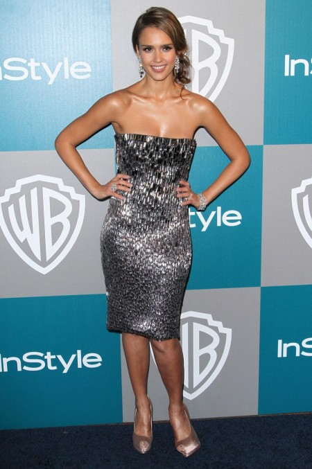 Jessica Alba At The Instyle And Warner Brothers Golden Globe After Party In Los Angel