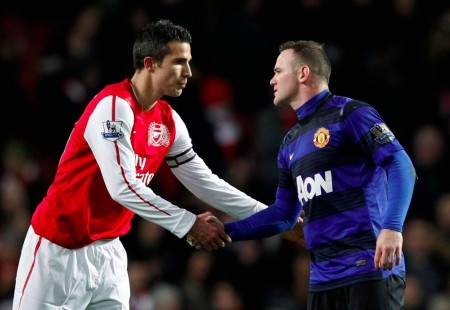 Wayne Rooney Robin Van Persie Manchester United Arsenal Liga Inggris Jan  Manchester United
