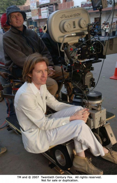 Director And Co Writer Wes Anderson On The Set Of The Darjeeling Limited Photo Credit James Hamilton