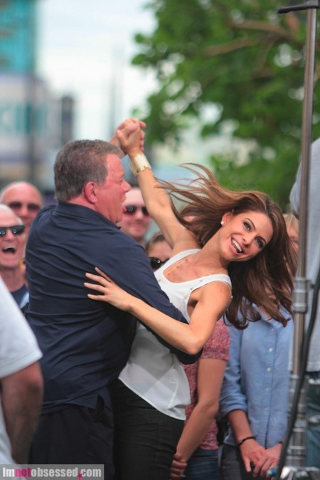 Maria Menounos And William Shatner Dance Away At The Grove Hot