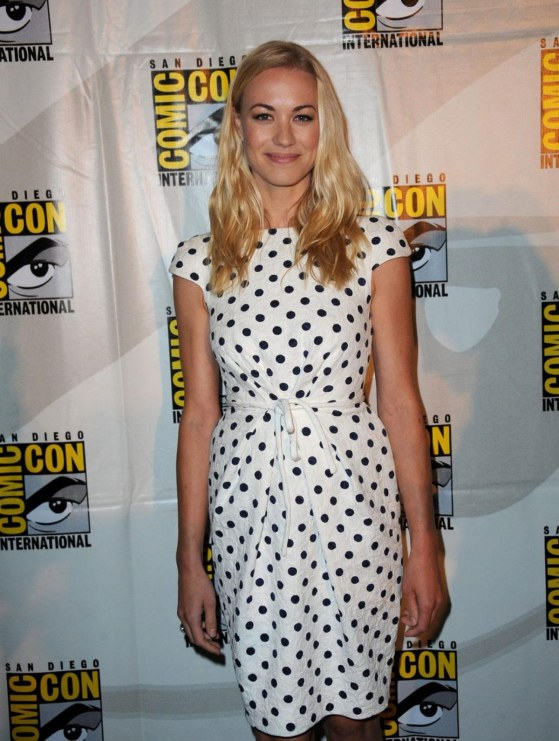 Yvonne Strahovski At Showtimes Dexter At Comic Con In San Diego Dexter