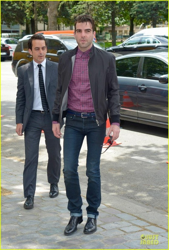 Zachary Quinto Christian Dior Paris Fashion Show Fashion