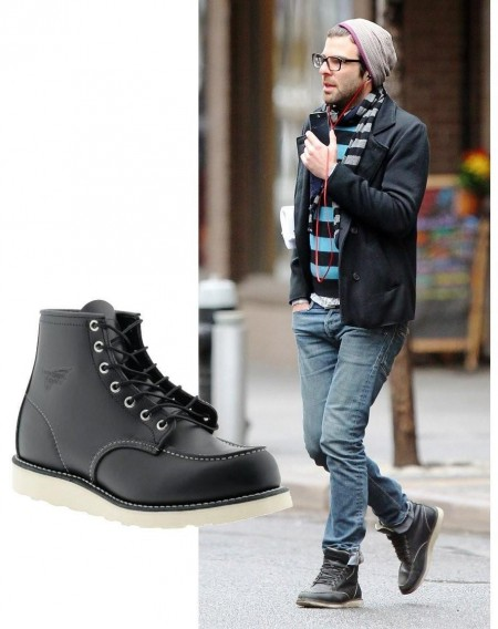 Zachary Quinto Red Wing Boots
