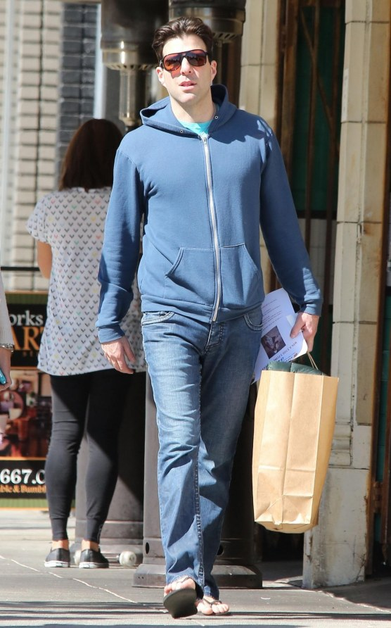 Zachary Quinto Shops In Hollywood Girlfriend